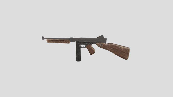 m1a1 Thompson submachine gun 3D Model