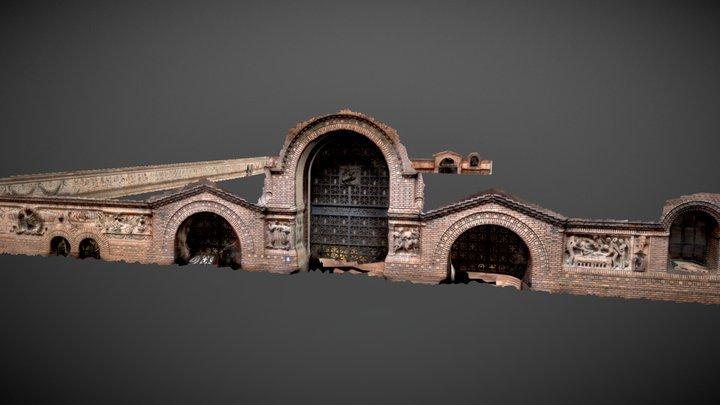 Frise de l'Institut d'art et d'archéologie 3D Model