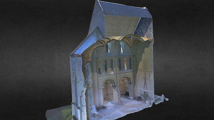 Eglise prieurale de Saint-Gabriel de Brécy 3D Model