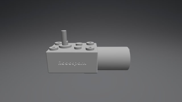 L Geared DC Motor - KWL-FP 3D Model