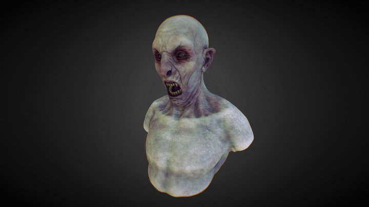 Vampire Bust - WIP01 3D Model