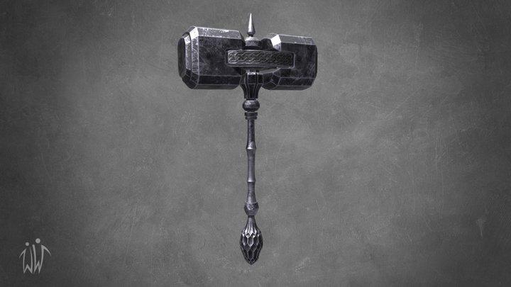 Battle hammer 3D Model