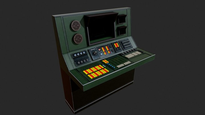 Old Nuclear Computer 3D Model