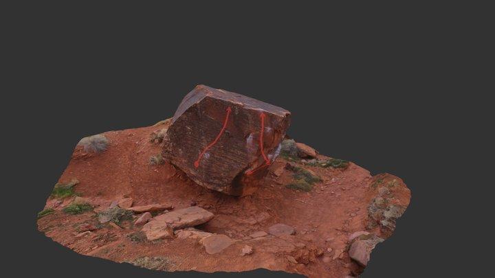 Wash Boulder 3D Model