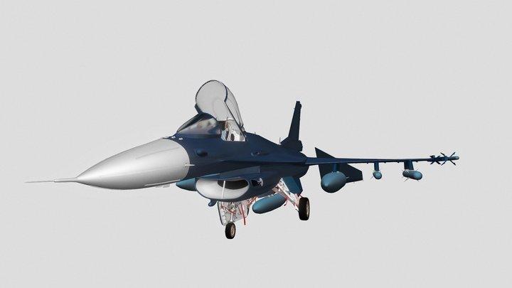 mitsubishi F-2 3D Model