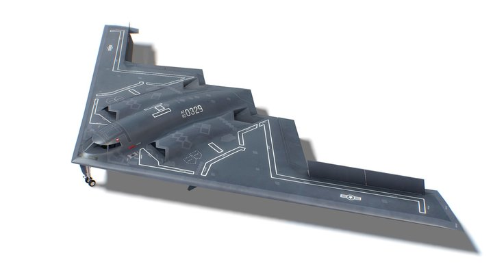 B-2 Spirit Jet Fighter Aircraft 3D Model
