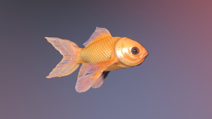 Two-Face Gold Fish #fishchallenge 3D Model