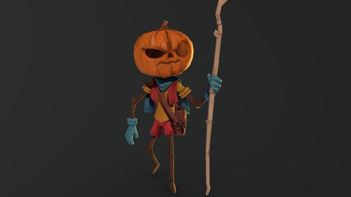 The Pumpkin Mage 3D Model