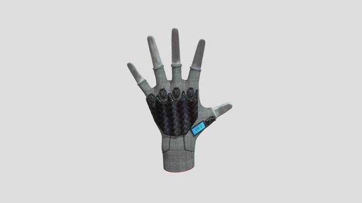 Sci-fi glove with rangefinder 3D Model