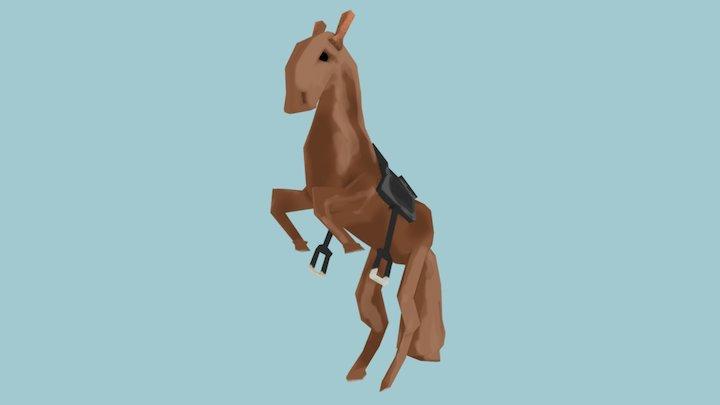 Handpainted Horse 3D Model