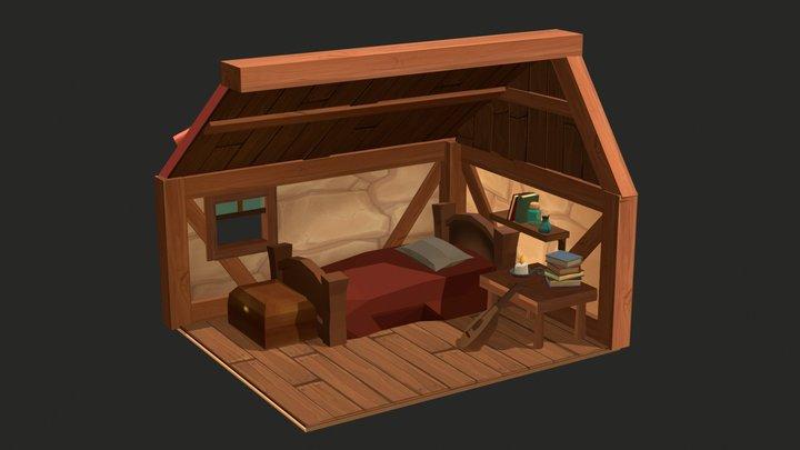 Kvothe's Bedroom 3D Model