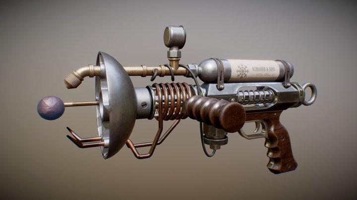 Steampunk Raygun 3D Model