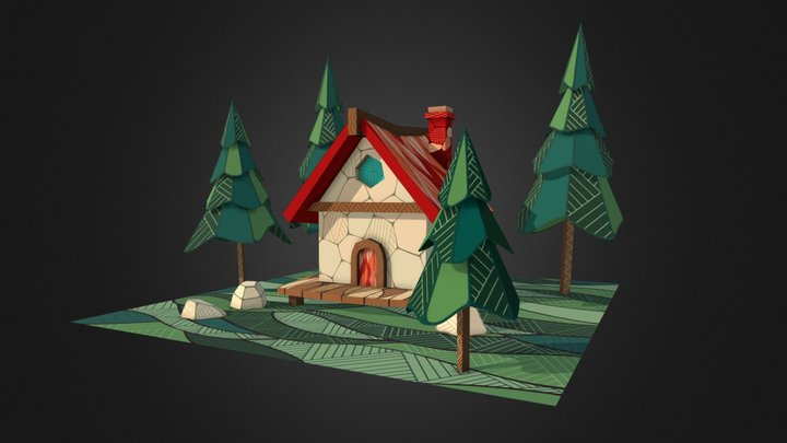 Summer Cottage 3D Model