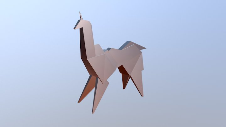Blade Runner Origami Unicorn 3D Model