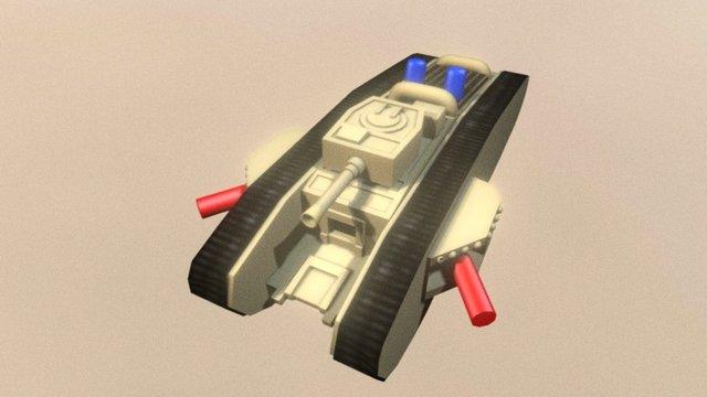 Sherman Tank toy 3D Model