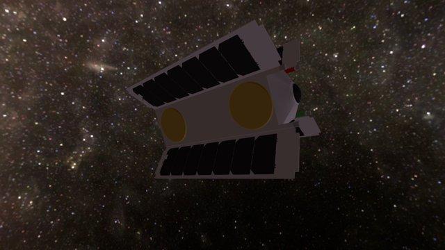 Overview 1 VR Camera CubeSat 3D Model