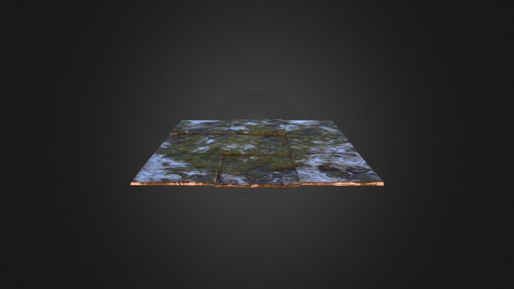 Old tiled ground 3D Model
