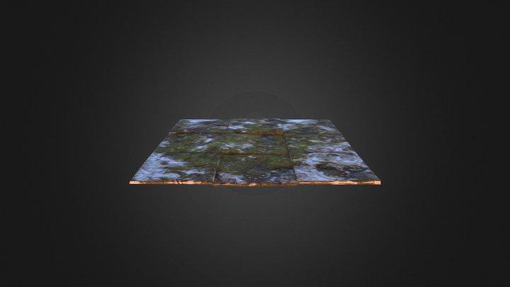 Old tiled ground 3D Model