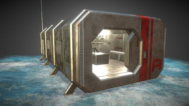 Carapod Environment - Armoury (WIP - 2016) 3D Model