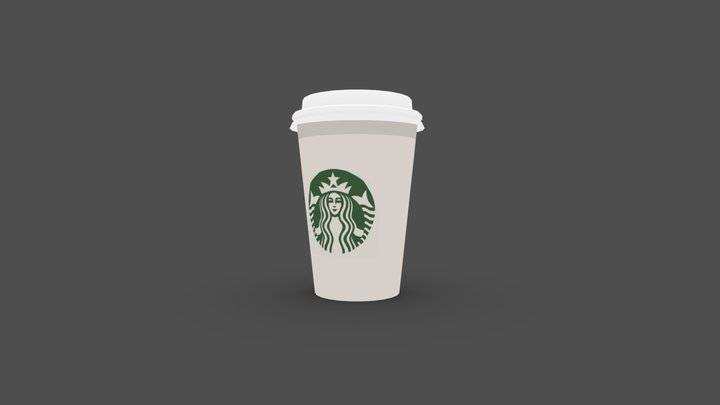 Starbucks Cup - Flat 3D Model