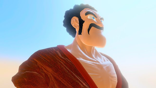 Mr. Satan, the undefeated champion. 3D Model
