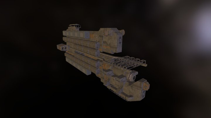 Aril Class XIII Freighter 3D Model