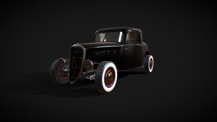 '33 Ford Hot rod - Low poly model 3D Model
