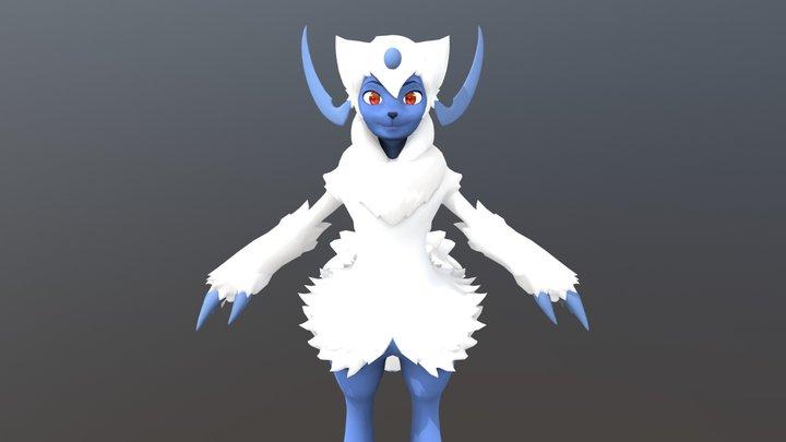 Absol Commission 3D Model