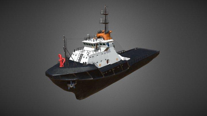 Icebreaker. Offshore ship. 3D Model