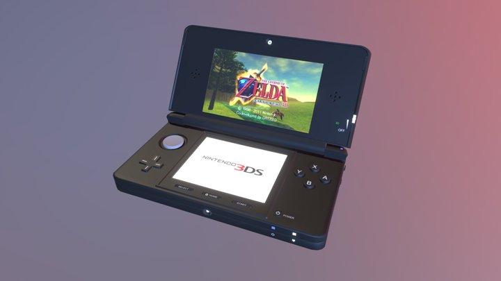 Legend of Zelda 25th Anniversary LE Nintendo 3DS 3D Model