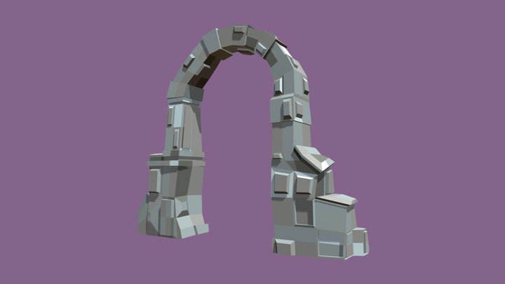 Low Poly - Archway 3D Model