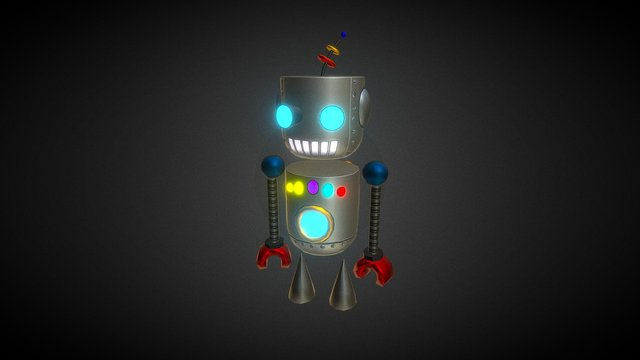 Robot Animation Game 3D Model