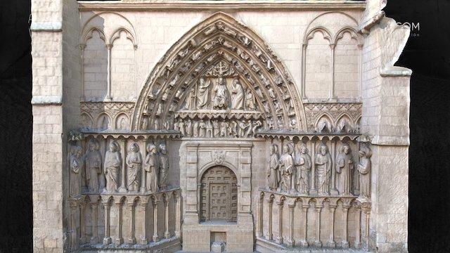 Portada Apóstoles Catedral Burgos 3D Model