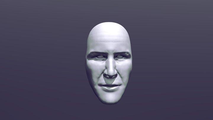 Keanu Reeves head sculpt 3D Model