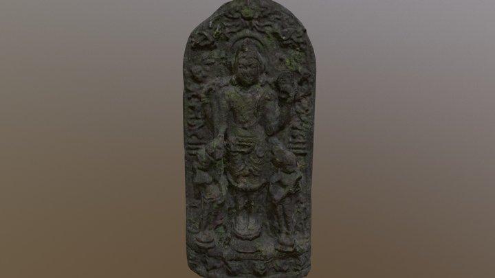 Ancient Temple Statue 3D Model