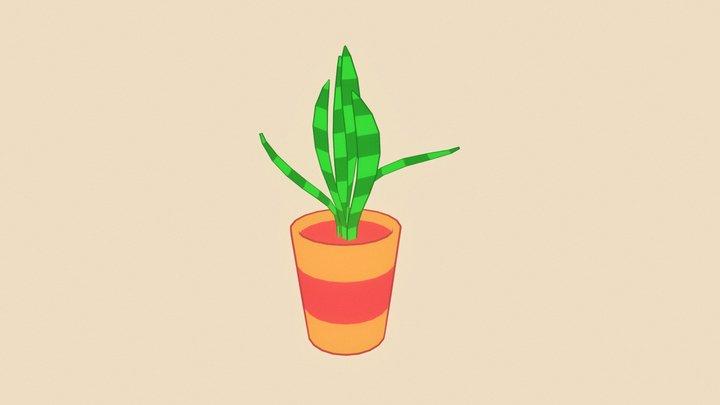 Plant in a Pot 3D Model