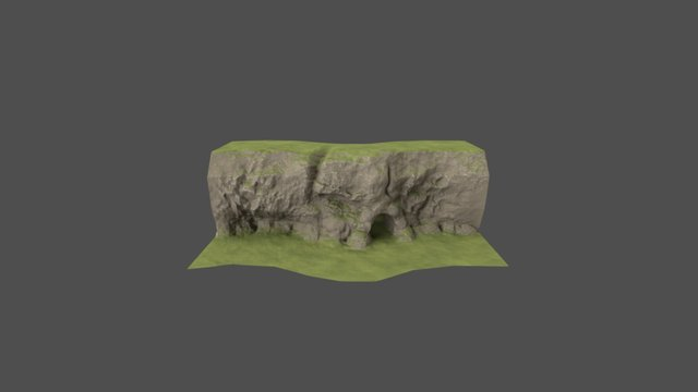 Cave Lowpoly 3D Model