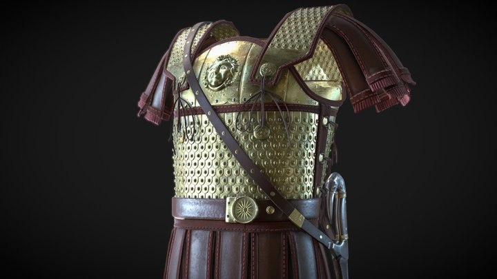 Heavy Linothorax, ancient Greek armor 3D Model