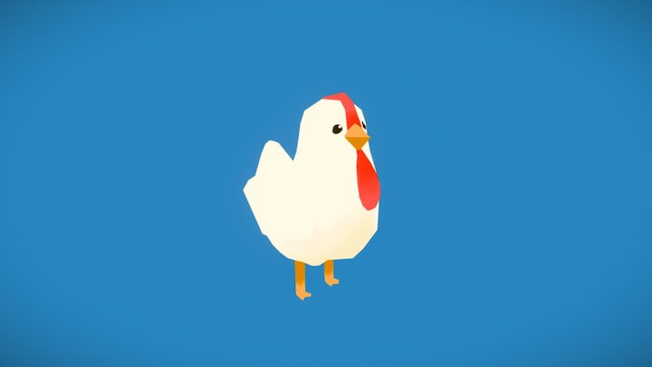 Cutesy Chicken (with Animation) 3D Model