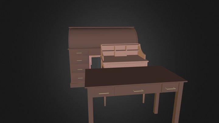 Antiques Desks.3ds 3D Model