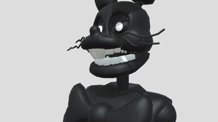 Stylized Shadow Bonnie 3D Model