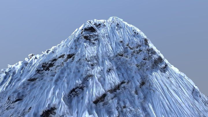 Himalaya Peak 3D Scan from Drone 3D Model