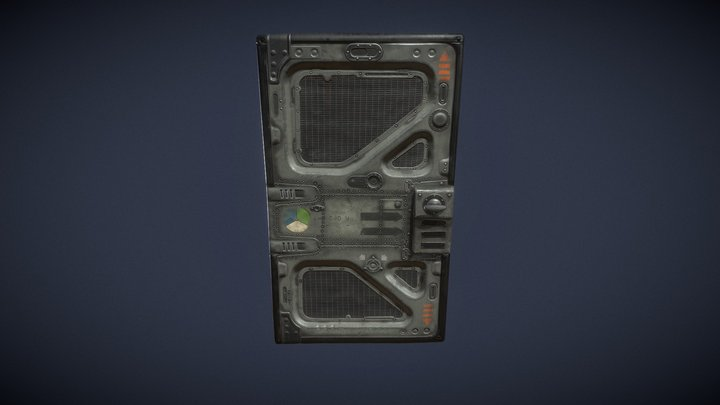 SHEET METAL DOOR FUSELAGE GREY 3D Model