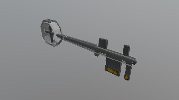 Chip Key 3D Model