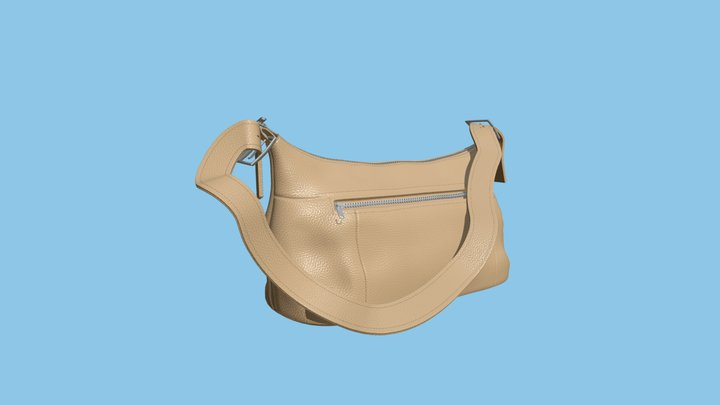 Ladies Leather Hand Bag 3D Model