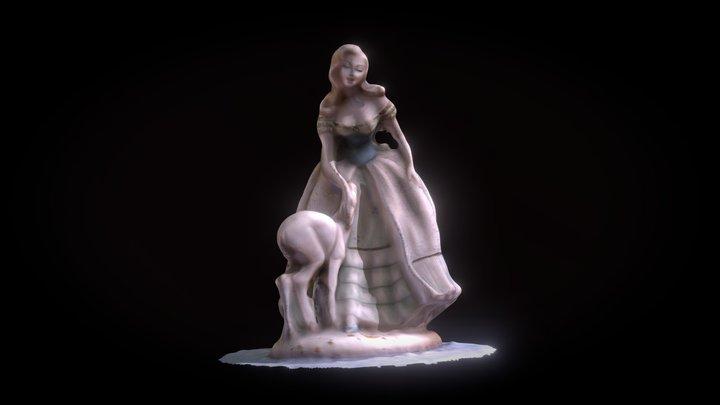 Girl with fawn - Fanciulla con Cerbiatto 3D Model
