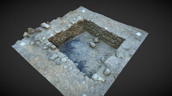 Highcross Street - Medieval Stone-lined pit 3D Model