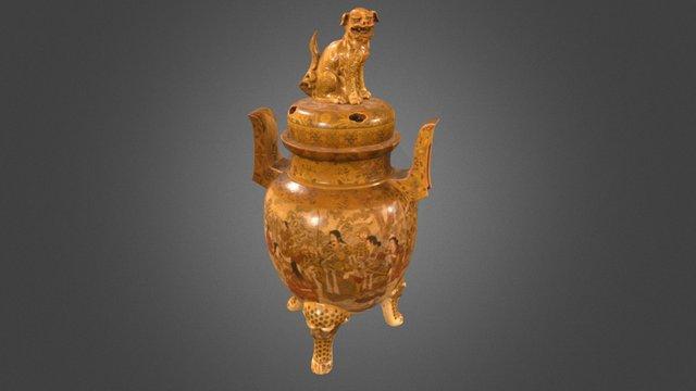 Imperial Satsuma 19th Century Museum Vase 3D Model