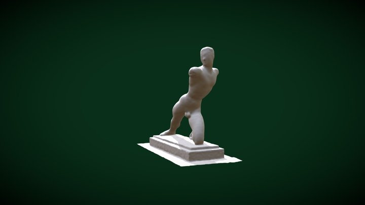 Decimated Lunge Man 3D Model