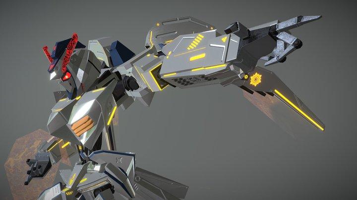 Gundam_Bael_Custom....10K poly 3D Model
